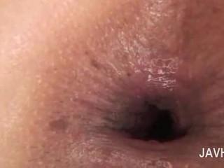 Азиатки анално крем пай в close-up с гол възбуден мадама