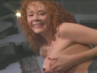 Redheaded Floozy Audrey Hollander Gags On Meaty Dick Pushing Down Throat