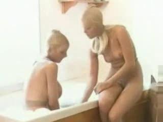 lesbian, bathroom, pantyhose