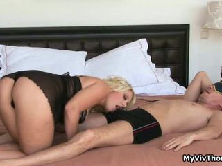 Super Hot Blond Babe Teasing A Big Cock