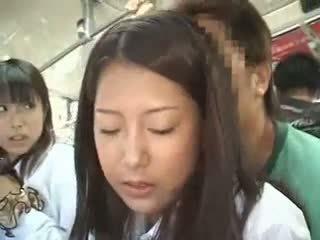 Two Schoolgirls Groped In A Bus