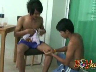 Thailändska ramrod boxning massagen