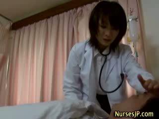 Watch this oriental nurse model