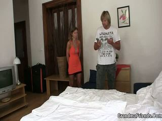 Mother and son fucked in a otel room