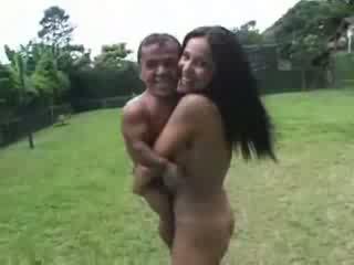 hot pornstar fucks a midget Video