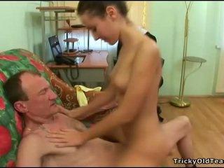पुराना शिक्षक gets कॉक loving कार्रवाई