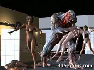 Aliens bang 3d meitenes!