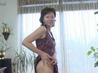 küps, euro porn, aged lady