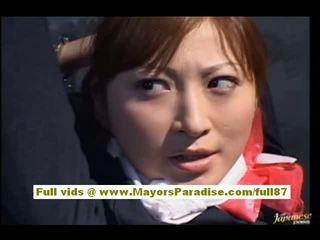 Chihiro hara styggt asiatiskapojke moidel är tied upp i arrest och
