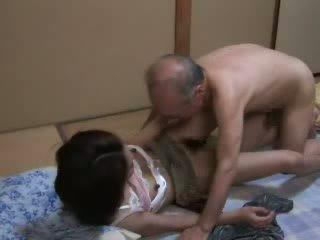 японський, дочка, дідусь, підліток