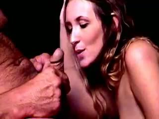 Slutty Brunette Smoker Brooke Bennett Gives Blowjob