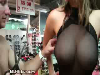 A Sexy Hot Mama Gets Horny Inside A Store
