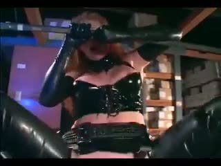 Audrey hollander - 紅發 他媽的 在 手套 和 一 膠乳 制服