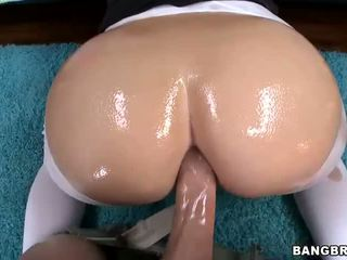 Blonde babe with big ass made for anal