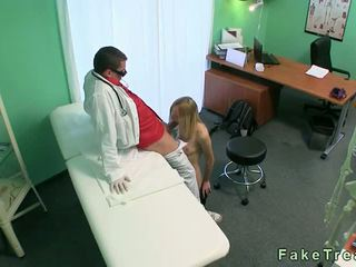 Small tits blonde fucking her doctor in the hospital