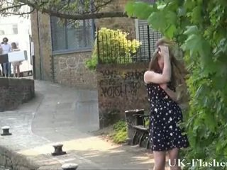 Teen public nudity and Lauras amateur flashing outdoors of sexy english babe