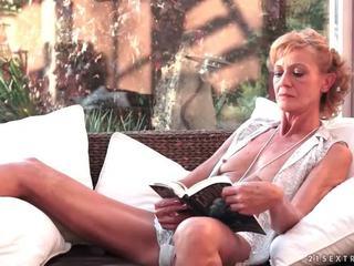 Hot granny fucks her young boyfriend