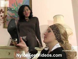 Laura And Ira Kinky Nylon Feet Action