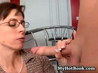 brunette, glasses, anal
