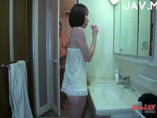 free brunette, japanese see, cumshot nice