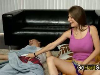 spaß papa spaß, beobachten blowjob echt, heiß masturbation