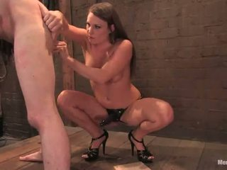Blonde Dominatrix Tortures Nads And Strapon Fucks A Dude's Asshole Tunnel In Pain Happiness