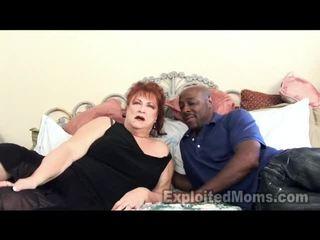 Mormor receives bawdy cleft pounded av stor svart kuk