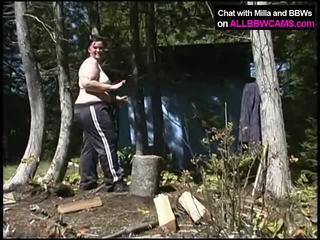 ผู้หญิงไซส์ใหญ่ wood cutting. thenã¢â€â¦ หี เวลา