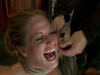 Elbows seotud knees edasi raske wood nipple suction neck rope breath mängima nägu keppimine tehtud kuni sperma