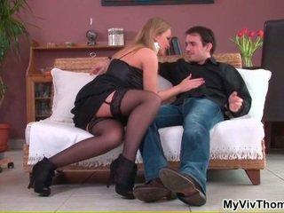 frisch porn in sexy stocking spaß, amazing sex in bed heißesten, sexy girl loves cock spaß
