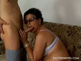 Obese wife next door spending the time, while her husband is at the office, fucking doll horny guys. This 49 year old