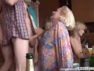 Hardcore eldre hjem orgie