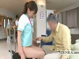Madura paciente licks jap nurses perra y ano