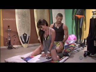 Randi Wright is fucked on a surfboard