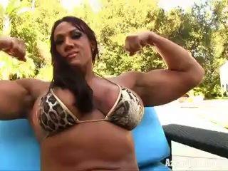 clitoris, big clit, bikini, female bodybuilder