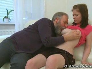 Maria's geezer and boyfriend threesome