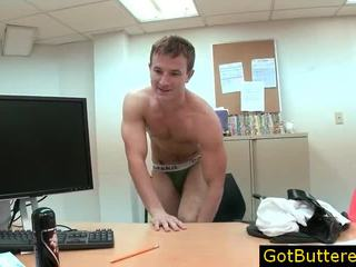 Hunky Homo Dude Playing With Toy