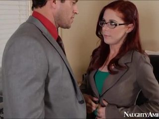 Scarlet Head Penny Pax Bump In Office Onto Perverted America