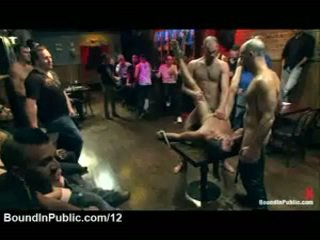 Tied Gay Fucked And Cover In Cum In Public Bar