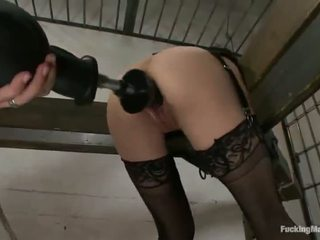Constrained Up Cytherea Has Toyed In Her Sensuous Clam In Prison