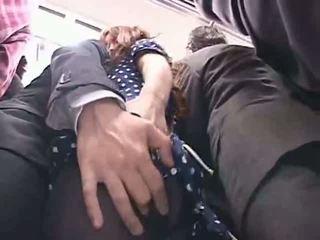 Officelady groped i en tåg