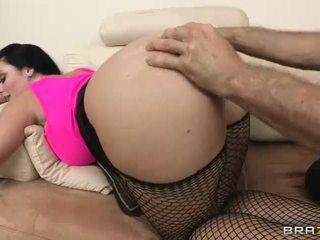 brunette hot, real fishnets, hot ass fucking hot