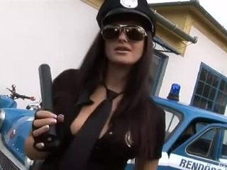 Officer Sandra knows what a bat is for