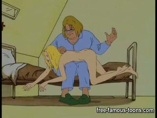Innocent 女孩 seduced 和 spanked
