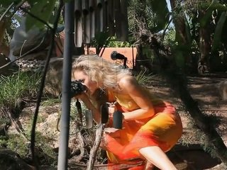 Talented Photographer takes her clothes off