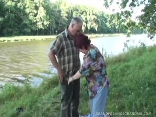 Stacked Redthis Chabad Milf Gives The Nakedback Suck Job By The River