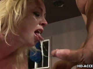 best blowjob fun, nice deep throat full, all blonde