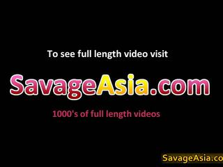 Horny Asian Bitch In Porno Threesome