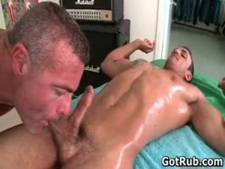 Massage Pro Receives His Precious Ass Fucked By Muscled Dude