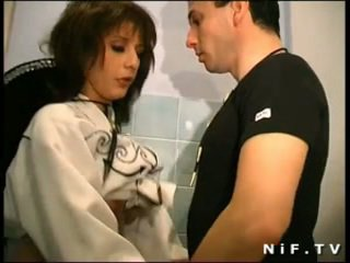 French swinger anal fucked in a gangbang with Papy Voyeur
